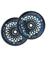 ROOT INDUSTRIES Lotus Wheels 110mm x 24mm - BLACK/BLUE-RAY