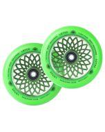 ROOT INDUSTRIES Lotus Radiant Wheels 110mm x 24mm - GREEN