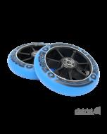 DISTRICT 110mm Wheels (PAIR) - BLACK/BLUE