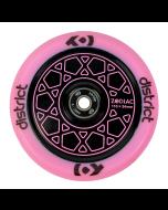 DISTRICT Zodiac Wheel 110mm - PINK/BLACK