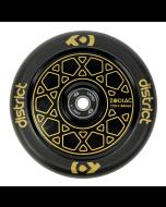 DISTRICT Zodiac Wheel 110mm - GOLD/BLACK