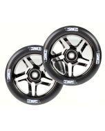 ENVY 120mm PAIR OF wheels - BLACK CHROME/BLACK