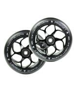 FASEN 120mm PAIR OF wheels - BLACK