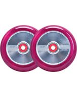 GRIT H2O Trans Pink/Silver 110mm (Pair)
