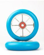 GRIT Wheels 110mm - BLUE / SILVER (Pair)