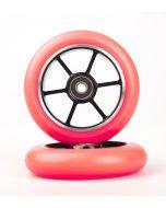 GRIT Wheels 100mm -  PINK / BLACK (Pair)