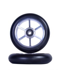 GRIT Wheels 110mm - BLACK / SILVER (Pair)