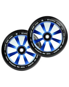 Revolution Twin Core 110mm Wheels  (PAIR) - BLUE