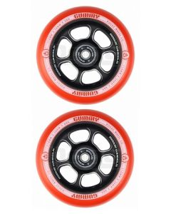 Rogue 110mm Gummy Wheels-Red/Black (Pair)