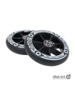 DISTRICT 100mm Wheels (PAIR) - BLACK/BLACK