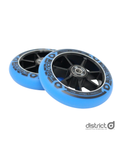 DISTRICT 110mm Wheels (PAIR) - BLACK/BLUE