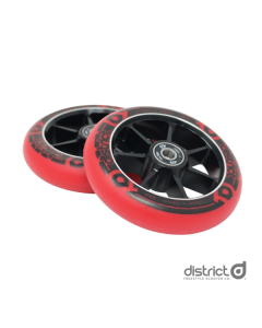 DISTRICT 100mm Wheels (PAIR) - BLACK/RED