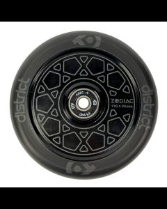 DISTRICT Zodiac Wheel 110mm - BLACK/BLACK