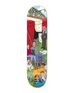ENJOI R7 EPOXY Skateboard Deck CARNIVAL ROJO 8.25