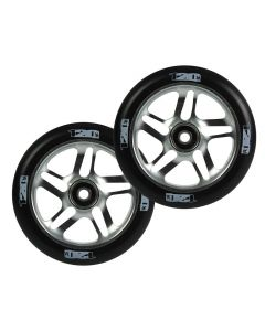 ENVY 120mm PAIR OF wheels - CHROME/BLACK