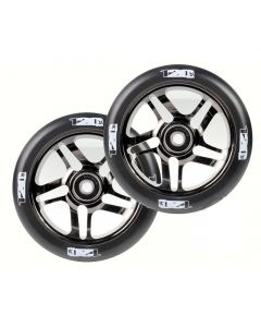ENVY 120mm PAIR OF wheels - BLACK CHROME/BLACK