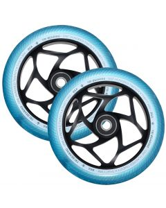 ENVY 120mm Tri Bearing 30mm Wheels - BLACK/TEAL