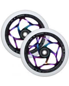 ENVY 120mm Tri Bearing 30mm Wheels - OIL SLICK/WHITE