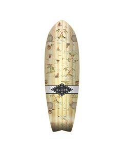 GLOBE Skateboard Cruiser Deck SUN CITY BAMBOO/PALMS 9 x 30