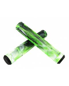 Crisp Handlebar Grips - 160mm - Black/White/Green
