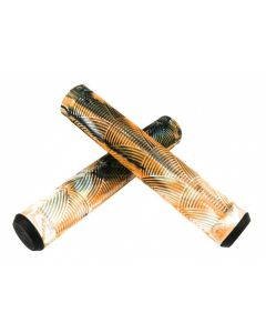 Crisp Handlebar Grips - 160mm - Black/White/Orange