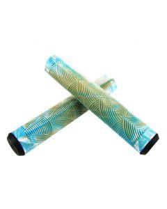 Crisp Handlebar Grips - 160mm - Gum/White/Blue