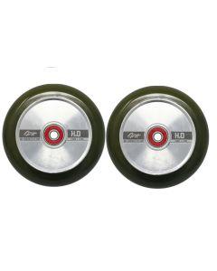 GRIT H2O Trans Olive / Polished 110mm (Pair)