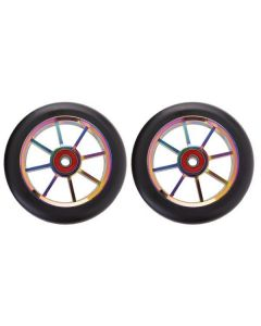 GRIT Wheels 100mm - BLACK / NEO (Pair)