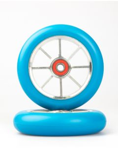 GRIT Wheels 110mm - BLUE / SILVER (Pair)
