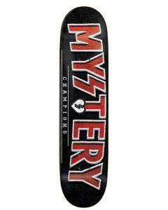 MYSTERY Skateboard Deck CHAMPIONS RED 8.25