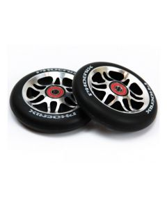 Phoenix Wing Wheels (PAIR) 110mm - BLACK