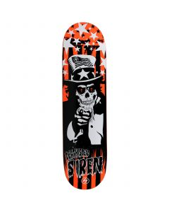 SIREN Skateboard Deck DEATH IS DEAD ORANGE 8.25