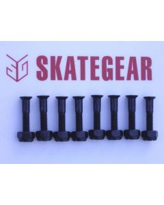 SKATEGEAR Skateboard Hardware 1 inch  (set of 8)