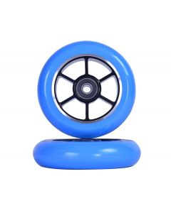 GRIT Wheels 110mm - BLUE / BLACK  (Pair)