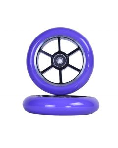GRIT Wheels 110mm - PURPLE / BLACK  (Pair)