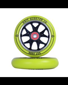 GRIT Wheels 110mm - YELLOW / BLACK  (Pair)
