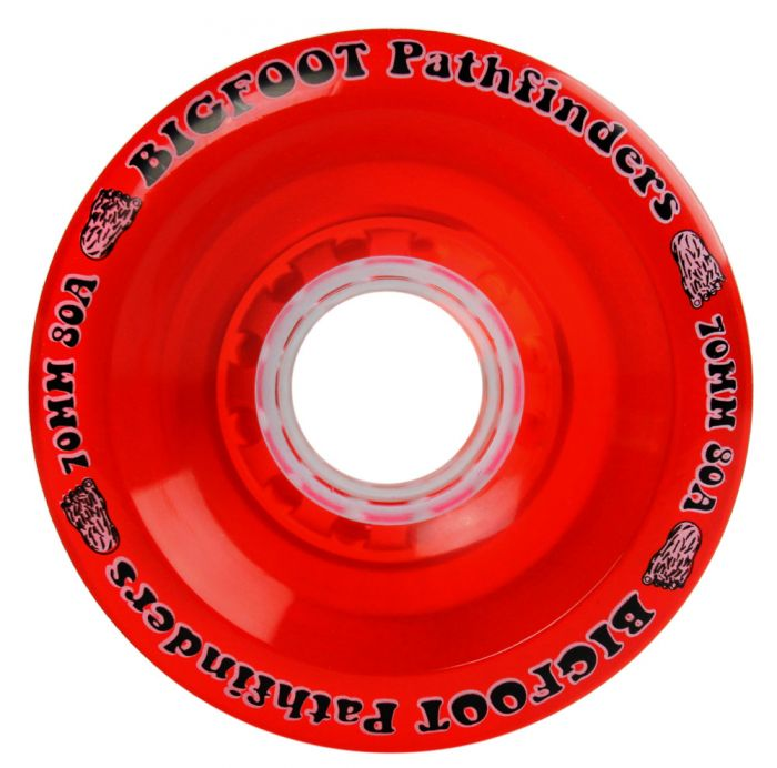 Bigfoot Wheels - 70mm 80a Pathfinders Red