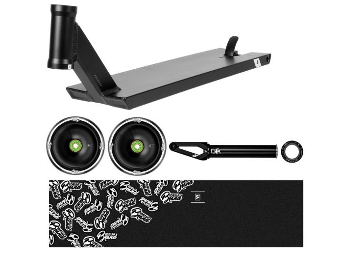 UrbanArtt V4 BONES Deck Kit - BLACK / BLACK