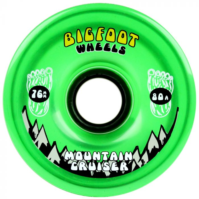Bigfoot Wheels 76mm 80a Cruiser Translucent Green