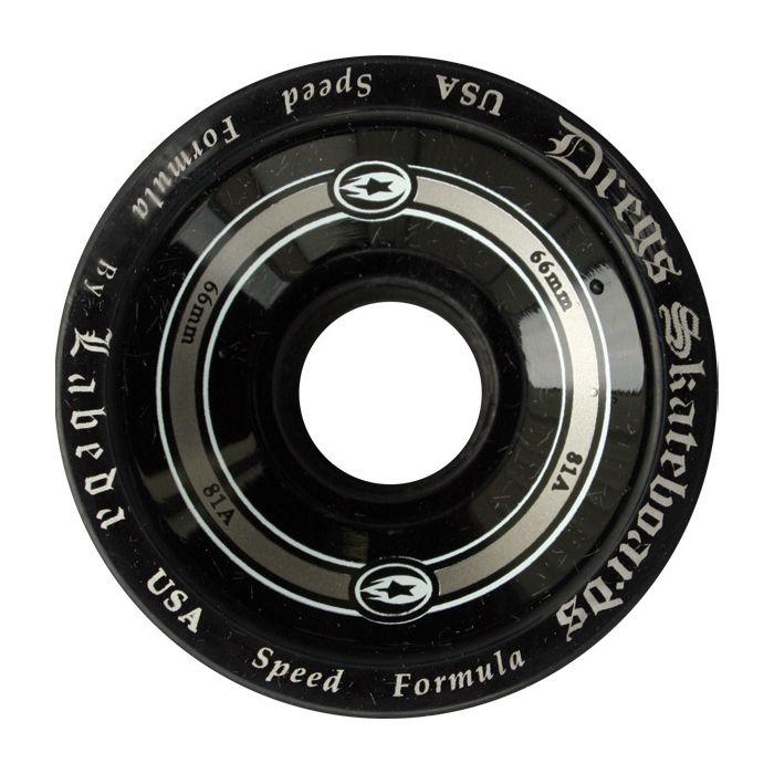 Dregs Labeda Race Wheels 66mm 81a Black