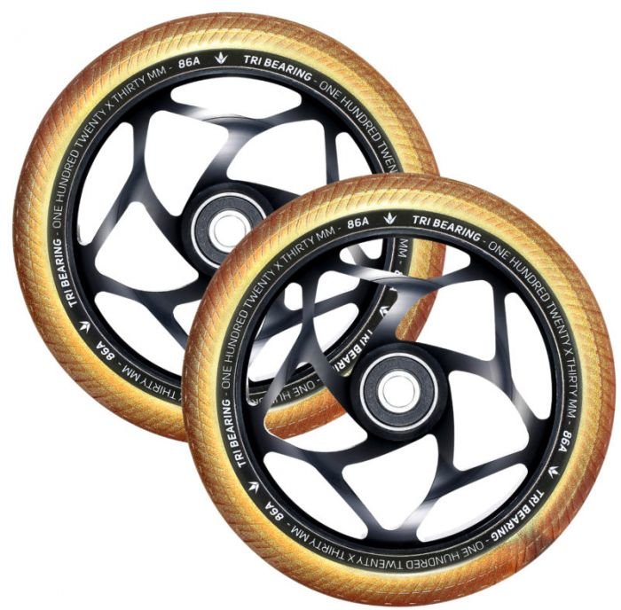ENVY 120mm Tri Bearing 30mm Wheels - BLACK/GOLD