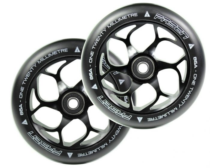 FASEN 120mm PAIR OF wheels - BLACK