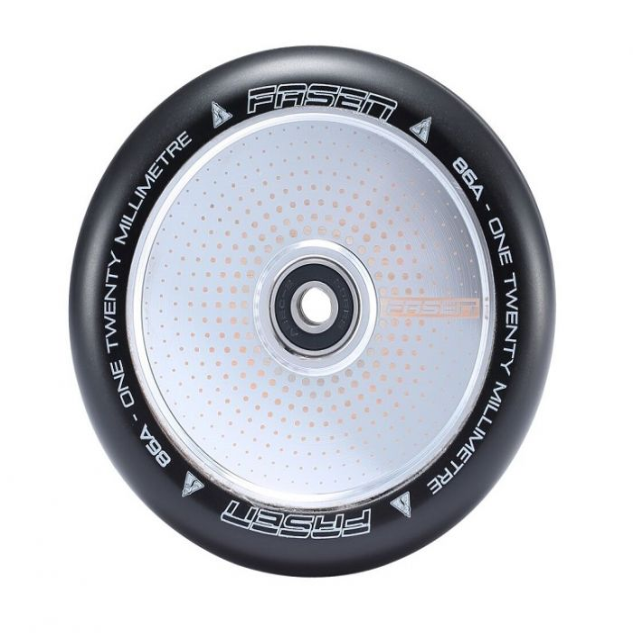FASEN 120mm Hollow Core Wheel - HYPNO DOT - CHROME