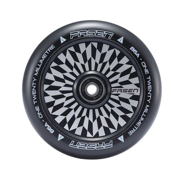 FASEN 120mm Hollow Core Wheel - HYPNO OFFSET - BLACK