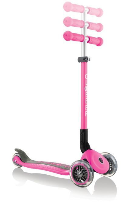 GLOBBER Kids 3 Wheel PRIMO FOLDABLE - Anodized Deep Pink