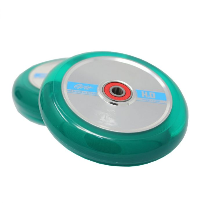 GRIT H20 Trans Green / Polished 110mm (Pair)