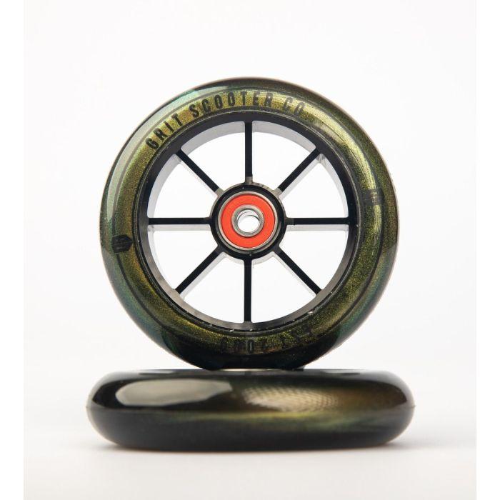GRIT Wheels 100mm - GOLD / BLACK (Pair)