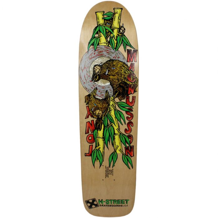 H-STREET 8.5 x 32.33 OLD SCHOOL Skateboard Deck TONY MAG BATTLE HOGS