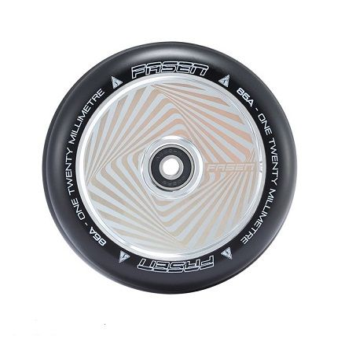 FASEN 120mm Hollow Core Wheel - HYPNO SQUARE - CHROME