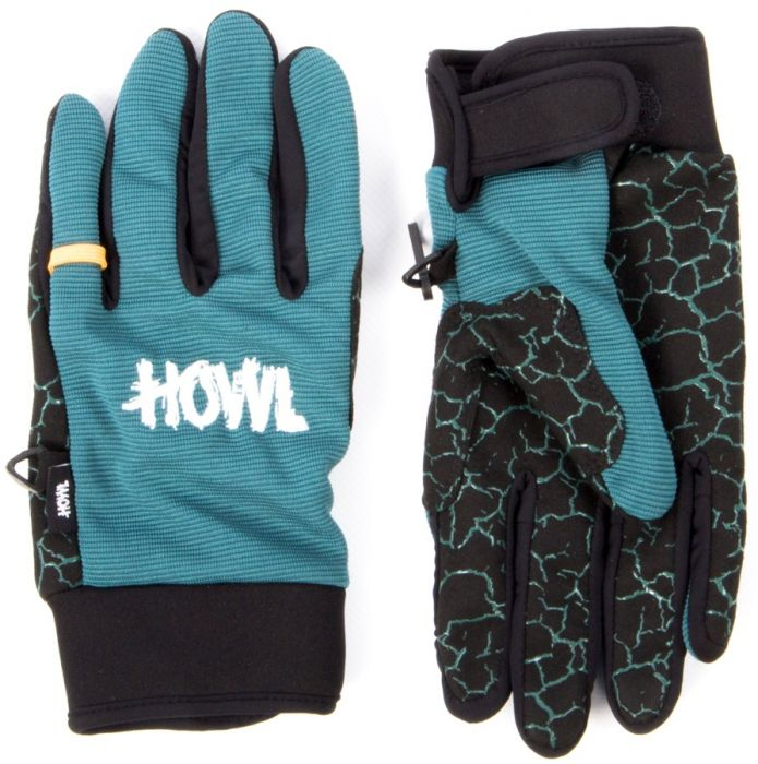 2016 HOWL SUPPLY Men's JEEPSTER Glove  - BLACK/TEAL- sz M